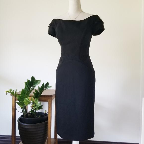 Zac Posen Dresses & Skirts - Zac Posen Black Viscose Cap Sleeve Cocktail Dress